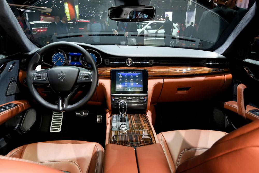 Gli interni della Maserati Quattroporte