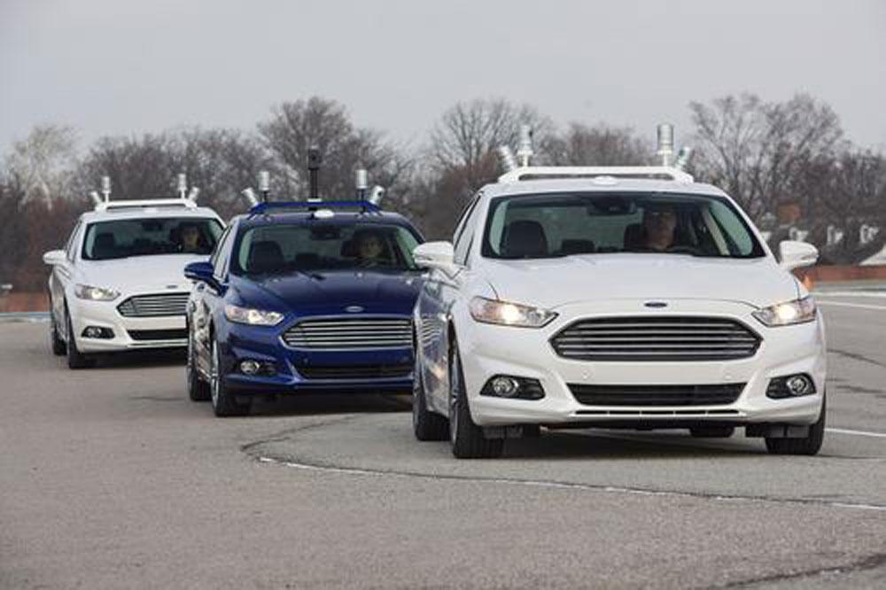 La Ford Mondeo a guida autonoma.