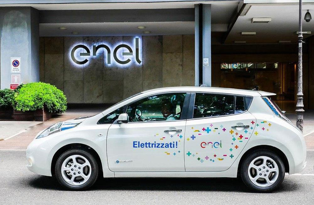 La Nissan Leaf Enel